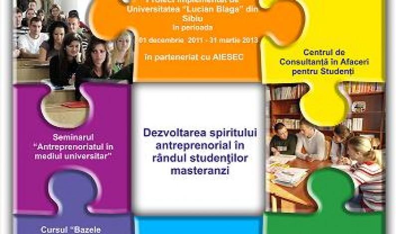 Studenţii sibieni îşi deschid afaceri cu bani europeni