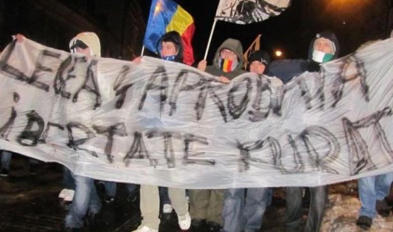 600 de suporteri au protestat la Sibiu