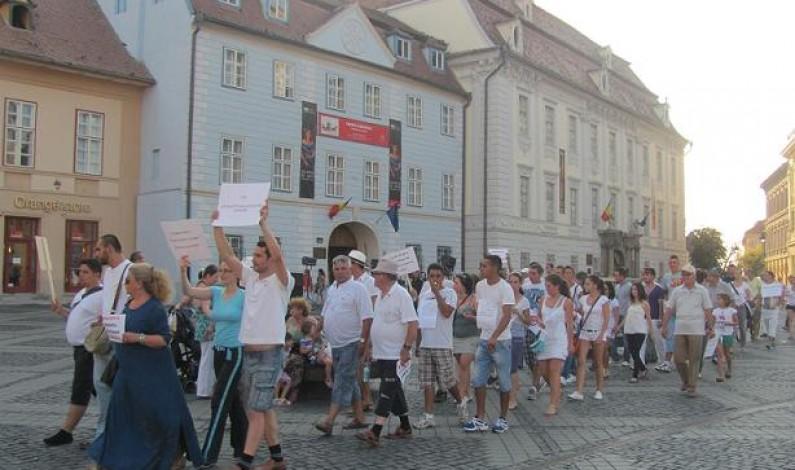 Miting pentru susținerea președintelui suspendat Traian Băsescu la Sibiu