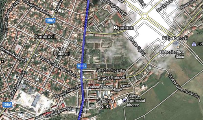 Calea Cisnădiei se va închide pentru lucrări de reabilitare timp de un an de zile